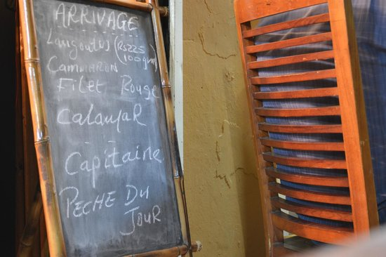 La Rougaille Creole : ardoise du jour