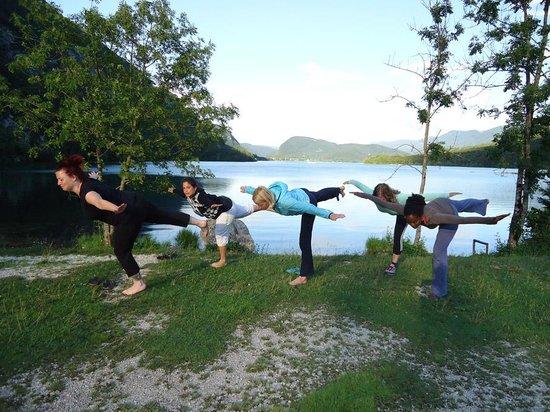 Hotel/Pension Stare at the Bohinj Lake: yoga at the bohinj lake