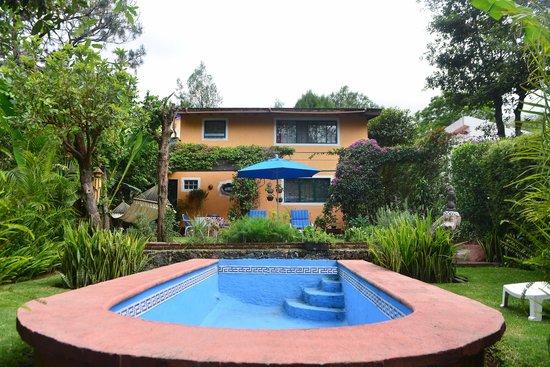 Casa de la Vida: back garden