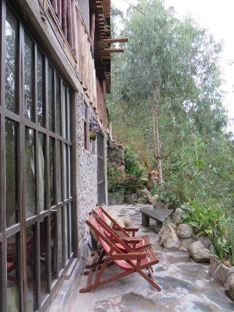 Eco Quechua Lodge: la fenêtre de notre chambre
