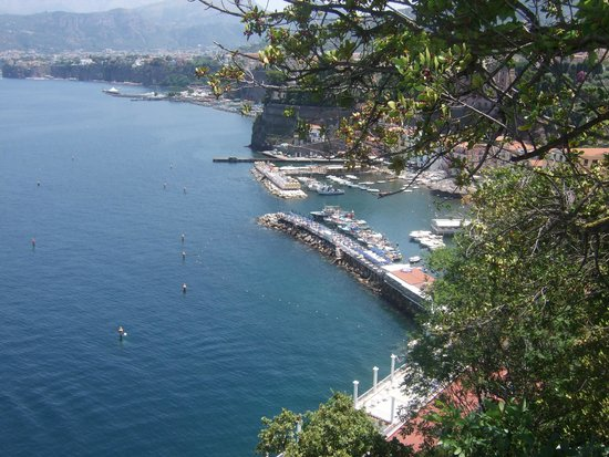 Hotel Belair : View from the terrace.Marina Grande