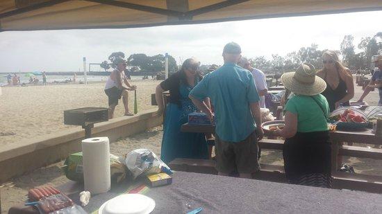 Dana Point, CA: BBQ at the beach