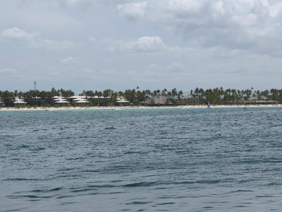 Bavaro Princess All Suites Resort, Spa & Casino : beach view from boat