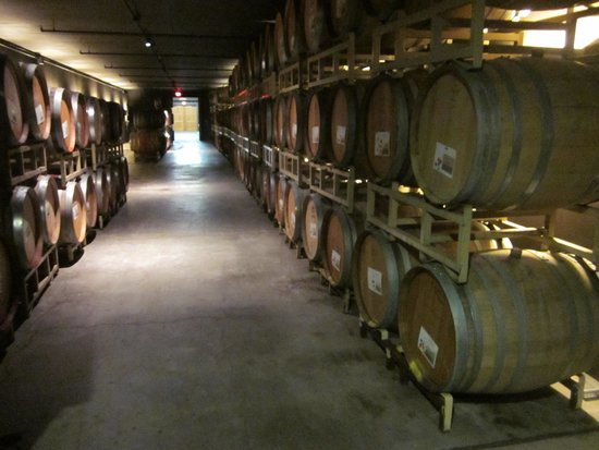 Willamette Valley Vineyards: Part of the complex storage system