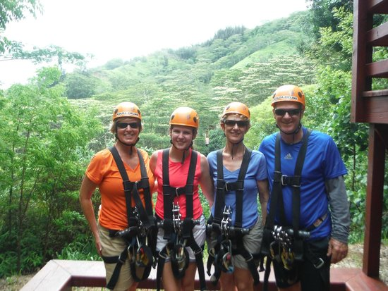 Koloa Zipline: Ready to enjoy the amazing views!