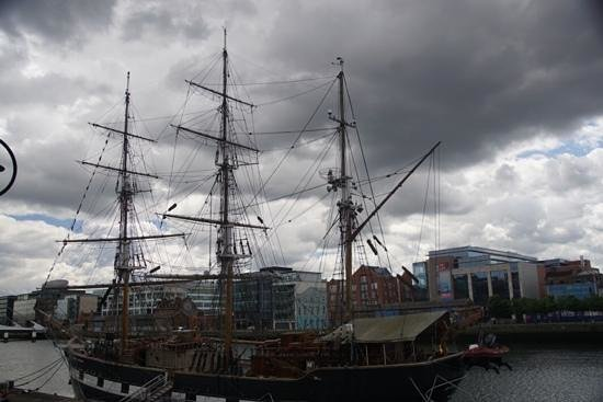 Jeanie Johnston Tall Ship and Famine Museum: from dock