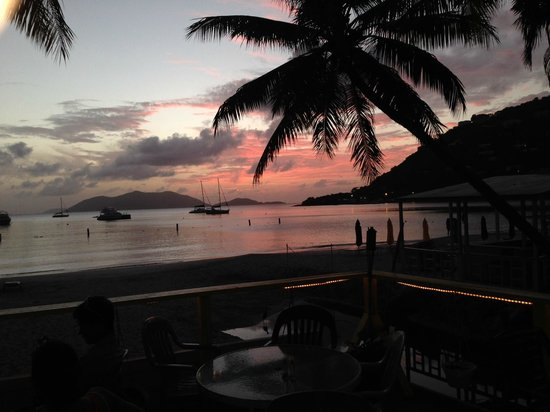 Myett's Garden Inn: Sunset in Cane Garden Bay