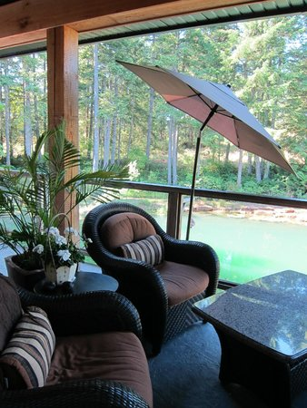 Stone Wood Bed and Breakfast: View from living room deck