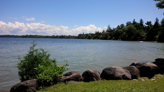 The Briars : A view of the water, nice and calm, the day the water sports center was closed because of too mu