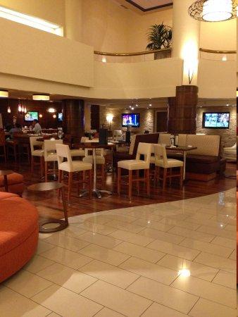 Albuquerque Marriott : Hotel bar (an evening when isolated)
