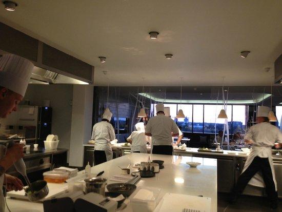 Geranium: Course served in the kitchen