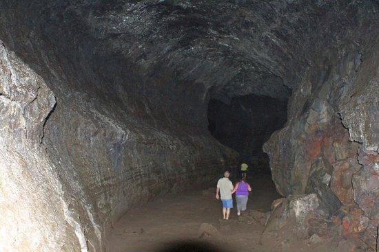 Walking Down Lava River Cave