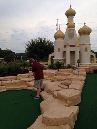Fun Fore All : My youngest on the mini golf course!