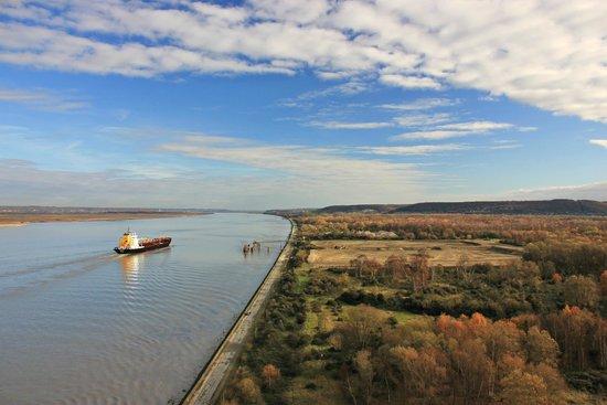 Le Pont de Normandie: Vue du pont