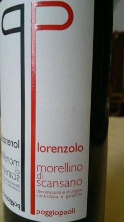 Osteria del Garo: Il vino morellino di Scansano