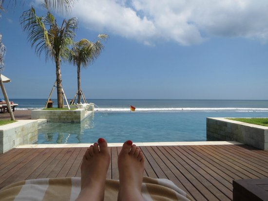 The Seminyak Beach Resort & Spa: view from lounger