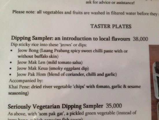 Tamarind: Dipping sampler