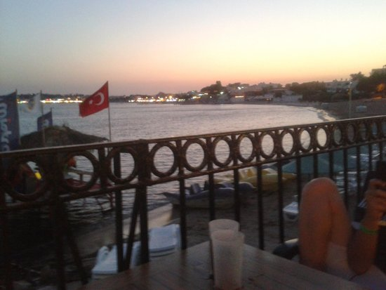 Tuntas Beach Hotel Altinkum: view on tuntas terrace