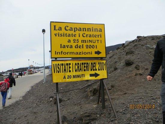 Monte Etna: Первая высота не доходя до фуникулера