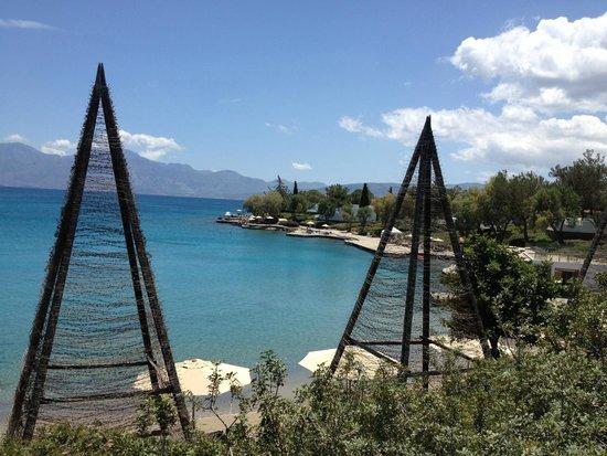 Minos Beach art hotel: View in Minos beach