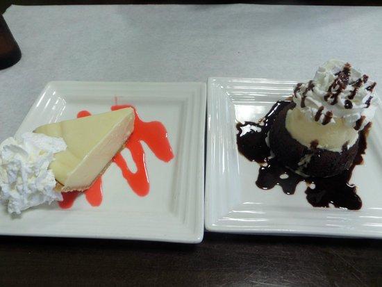 Chef John's Place: Best key lime pie!!  Amazing lava cake!