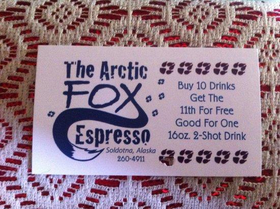 Arctic fox: Punch card