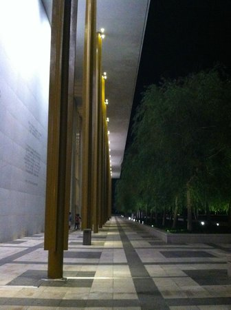 John F. Kennedy Center for the Performing Arts: A quiet moment on the terrace deck