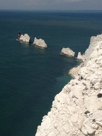 The Needles Battery: view from new battery
