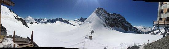 Jungfraujoch: View from the Monchjochhutte