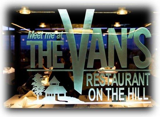 The Van's Restaurant On the Hill: The Van's logo