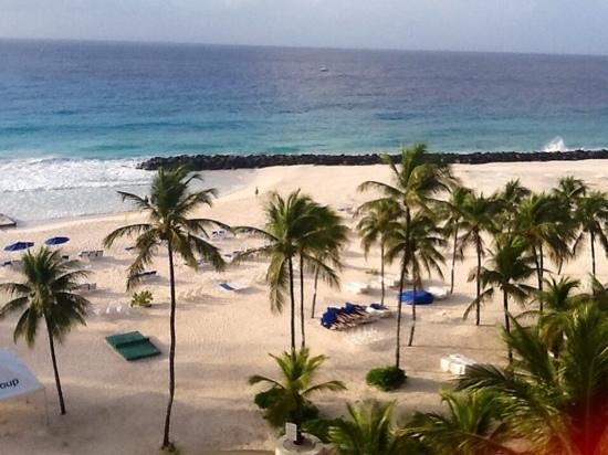 Hilton Barbados Resort: looking out our balconey