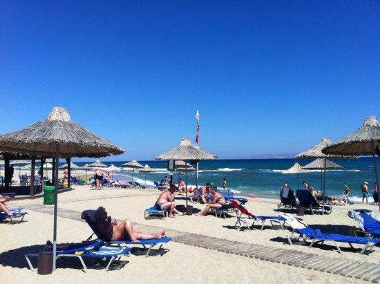Anissa Beach Hotel: Пляж
