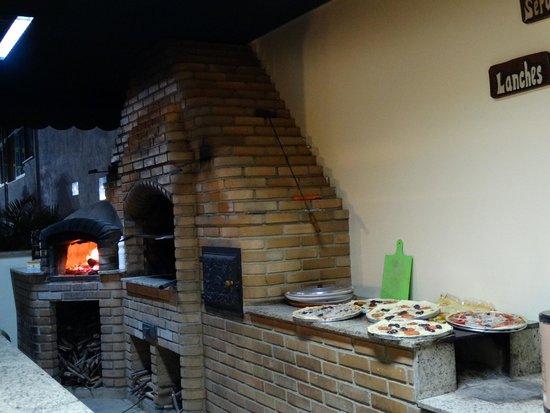 Chales Akropolis Hotel Fazenda : Pizza