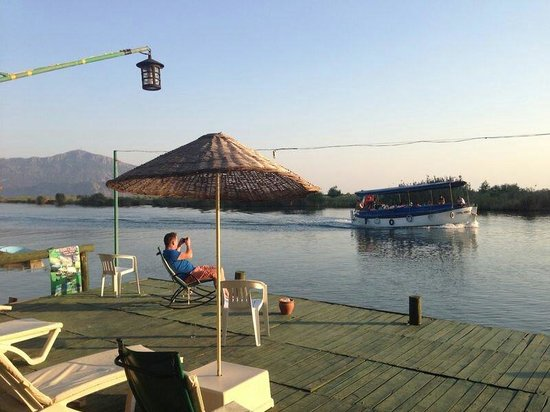 Asur Hotel & Aparts & Villas: On the deck by the river
