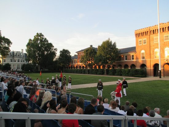 U.S. Marines Sunset Parade : Inside the barracks, waiting for the parade to begin
