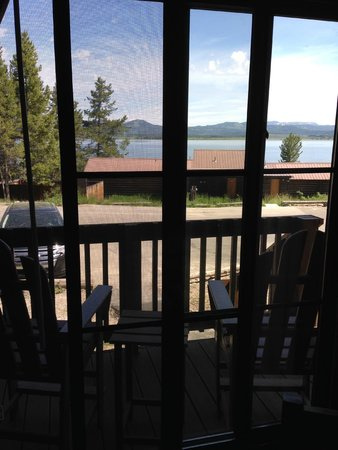 Signal Mountain Lodge: View from inside cabin