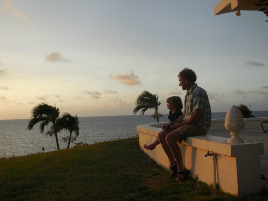 The Buccaneer St Croix : Enjoying sunset at the Beach House