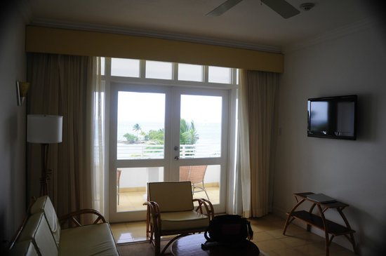 Couples Tower Isle: The view from the sitting area of a one bedroom suite.