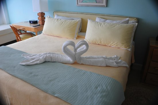 Couples Tower Isle: The bedroom.