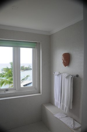 Couples Tower Isle: Part of the large walk-in shower in the one bedroom suite.