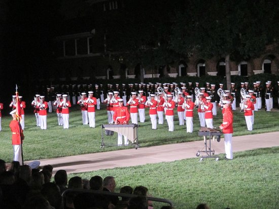 U.S. Marines Sunset Parade : Playing Motown hits