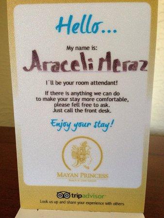 Mayan Princess Beach & Dive Resort: Siempre mantuvieron nuestra habitación impecable