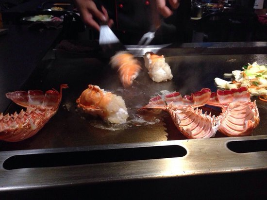 Thankyou very much happy birthday written in salt on the - Shogun japanese cuisine ...