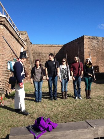 Old Fort Jackson: New recruits learning about a day in the life and how to protect their Fort.