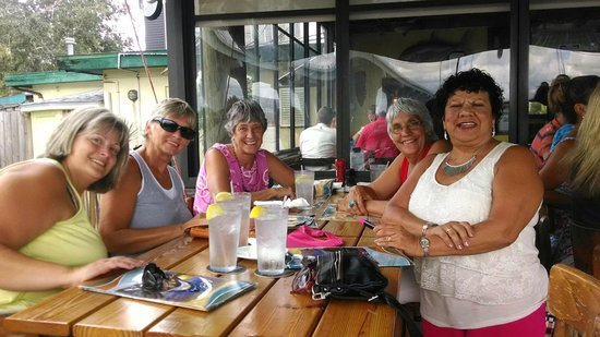 Neighbor gals having the BEST of times at Riverside Cafe.
