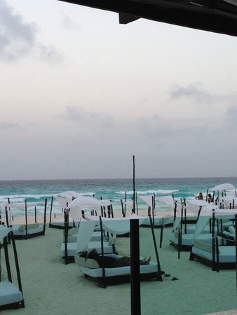 ME Cancun: Beach side beds and cabanas