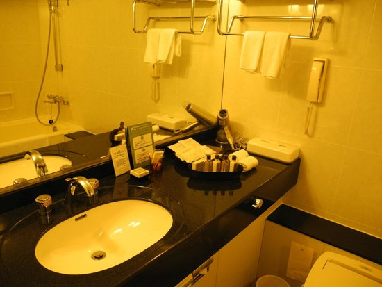 Keio Plaza Hotel Tokyo: Japanese bathroom - they love to make it look a bit 90s even it has been remodeled!