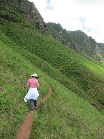 Hotel Restaurant Arce : on the way up the 900m climb to Iparla Ridge