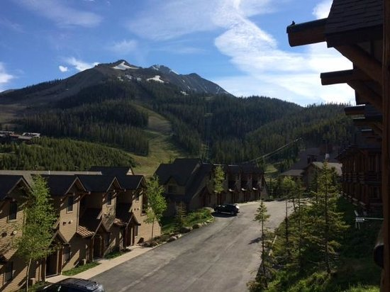 Moonlight Basin Resort: View from deck of townhome