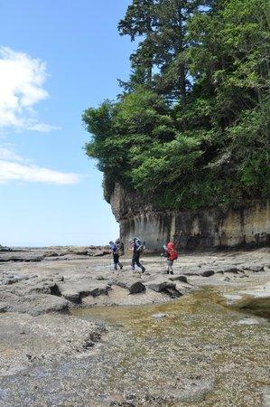 West Coast Trail: Hikers on the shelf